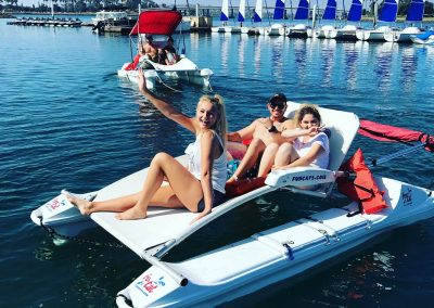 People on funcat boat rentals