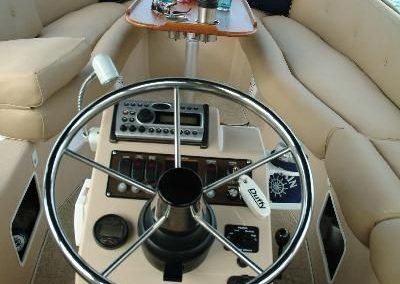Interior of boat rental from Action Sport Rentals