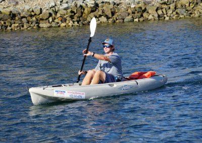 Man in kayak rental from Action Sport Rentals